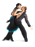 Couple dancers latina style Stock Photos