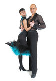 Couple dancers latina style Royalty Free Stock Photography