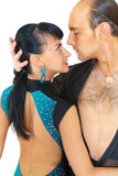 Couple dancers latina style Royalty Free Stock Photos