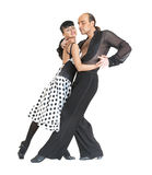 Couple dancers latina style. On white background Royalty Free Stock Photos