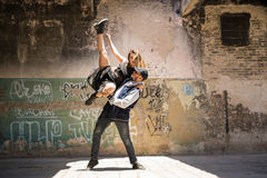 Couple of dancers performing together Royalty Free Stock Photo