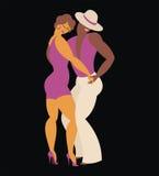 Couple dances a salsa Stock Images