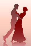 Couple dancing. Vector illustration of a young couple dancing Royalty Free Stock Photo