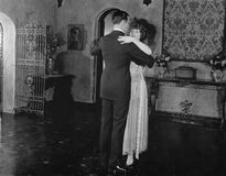 Couple dancing. (All persons depicted are no longer living and no estate exists. Supplier grants that there will be no model release issues Royalty Free Stock Image