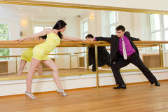 Couple dancing in the ballroom Stock Photo