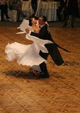Couple Dancing on Ballroom Floor, Lady in White Stock Photo