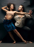 Couple dancing contemporary Royalty Free Stock Image