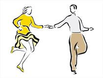 Couple dancing 2 Royalty Free Stock Photos