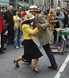 Couple dancing at the Easter Parade on 5th avenue in New York Royalty Free Stock Photos