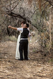 Couple Dancing in Forest Royalty Free Stock Image