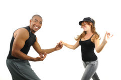 Couple dancing isolated Royalty Free Stock Photo