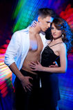 Couple dancing latin dance Stock Photos