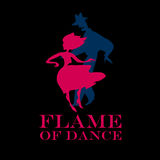 Couple dancing latin dance. Black background salsa poster. couple dancing latin dance vector illustration Royalty Free Stock Photo