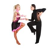 Couple dancing latino. Over white Royalty Free Stock Photography
