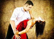 Couple dancing latino. Cute young couple dancing latino Royalty Free Stock Photo