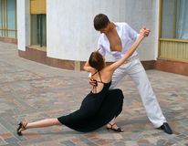 Couple dancing Latino dance Stock Images