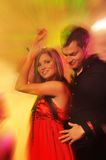 Couple dancing in the night club Stock Image