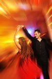 Couple dancing in the night club Royalty Free Stock Photos