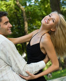 Couple dancing, outdoors Stock Photos