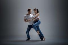 Couple dancing social danse Stock Photos