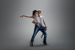 Couple dancing social danse Royalty Free Stock Photography