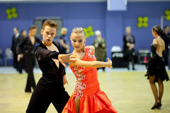 Free Couple Dancing Sport Competition Royalty Free Stock Photography - 18365897