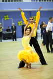 Couple dancing sport competition Stock Images