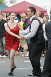 Couple Dancing in Street Royalty Free Stock Photos