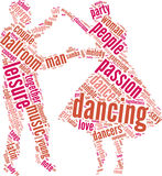 Couple dancing  tag cloud Stock Image