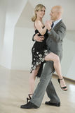 Couple dancing tango Stock Photos