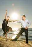 Couple dancing tango Royalty Free Stock Photography