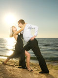 Couple dancing tango Royalty Free Stock Images