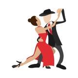 Couple dancing tango cartoon icon Stock Photography