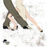 Couple dancing tango. Stock Photography