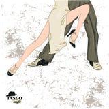 Couple dancing tango. Stock Photos