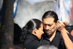 Couple dancing tango Stock Image