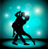 A couple dancing the tango. Stock Images