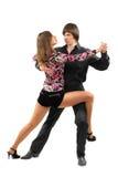 Couple dancing tango royalty free stock photo