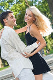 Couple dancing together Stock Image