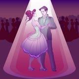Couple dancing waltz Stock Image