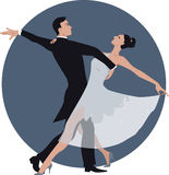 Couple dancing waltz Stock Image