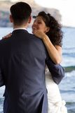 Couple dancing the wedding dance Royalty Free Stock Photography