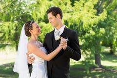 Couple dancing on wedding day Royalty Free Stock Image