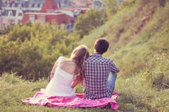 Couple on a date Royalty Free Stock Photos