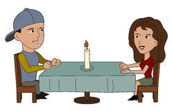 Couple on a date Stock Images