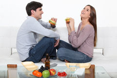Couple on a date Stock Photography