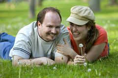 Couple on date Stock Images