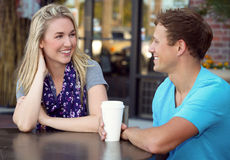 Couple date Stock Photo