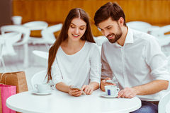 Couple on a date Stock Photos