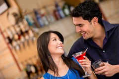 Couple on a date having drinks Stock Image